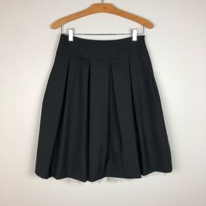 Theory Black Pleated Bell Skirt Size 2